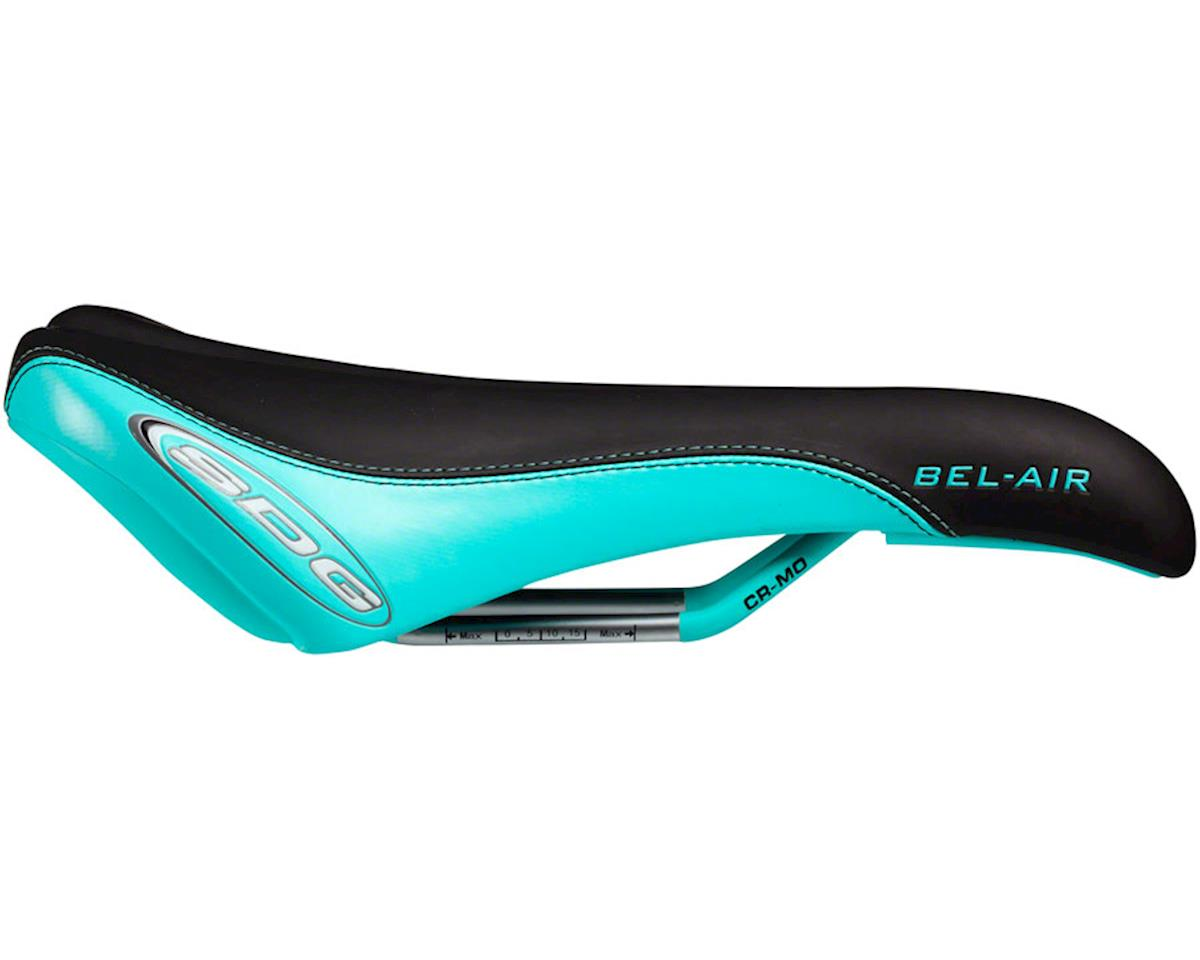 SDG Bel-Air RL Saddle (Black/Teal) (Solid Chromoly Rails)