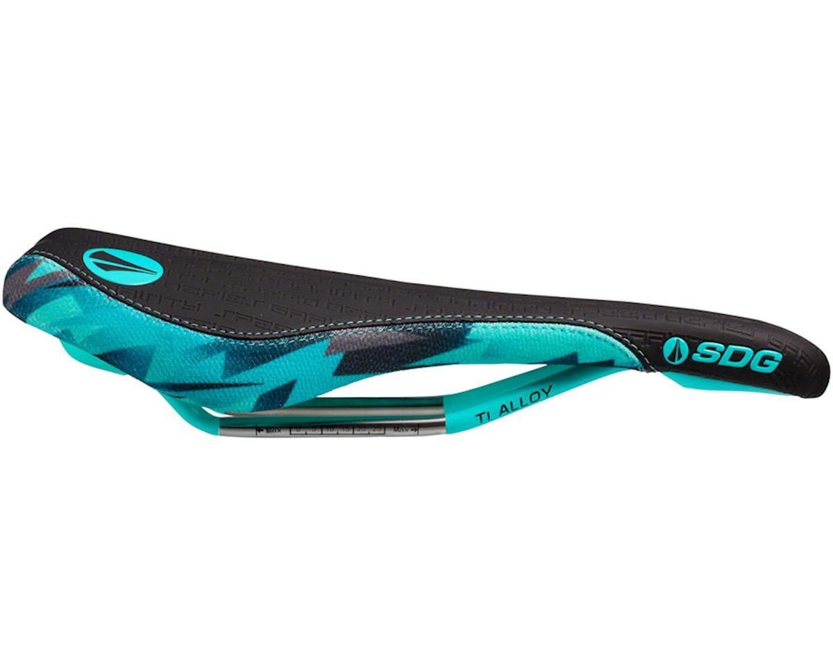 Sdg Fly MTN Camo Bolt Saddle (Teal/Camo) (Ti-Alloy Rails)