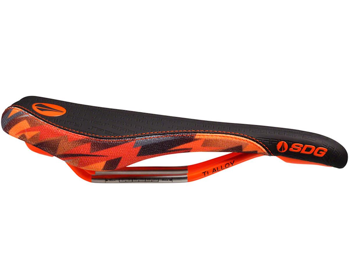 SDG Fly MTN Camo Bolt Saddle (Orange/Camo) (Ti-Alloy Rails)