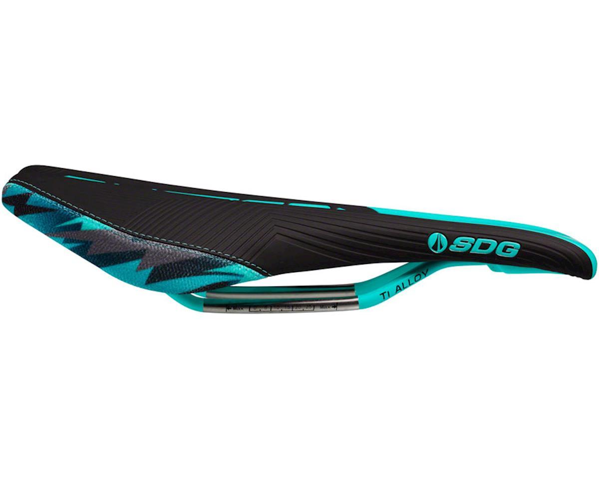 Sdg Duster P MTN Camo Bolt Saddle (Black/Teal) (Ti-Alloy Rails)