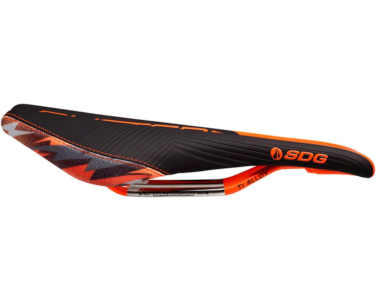 SDG Duster P MTN Camo Bolt Saddle (Black/Orange) (Ti-Alloy Rails)