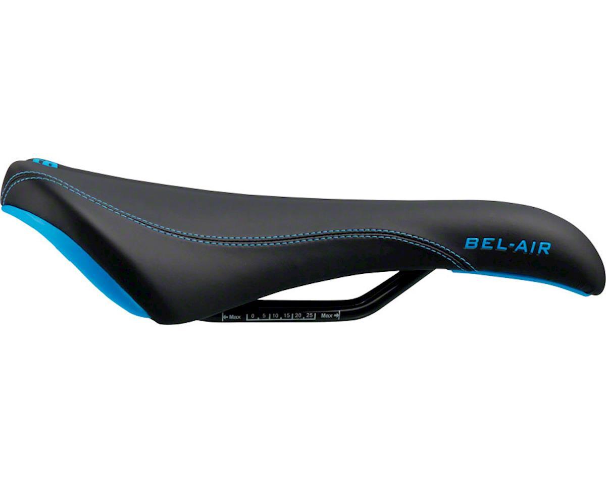 SDG Bel-Air RL Saddle (Black/Cyan) (Steel Rails)