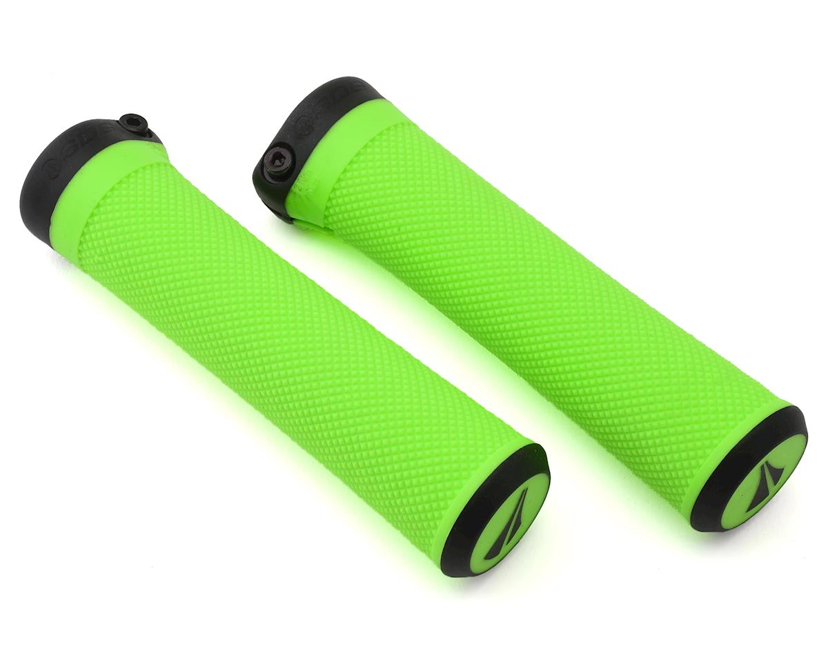 SDG Slater Lock-On MTB Grips - neon green/blk