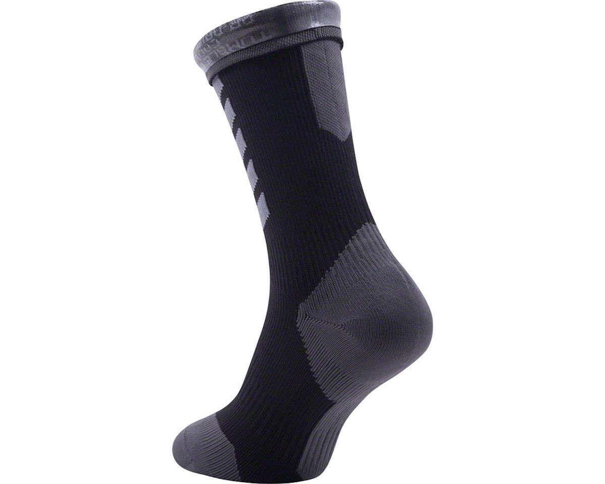 Sealskinz Seal Skinz Mid Mid Hydrostop Waterproof Sock (Black) (M)