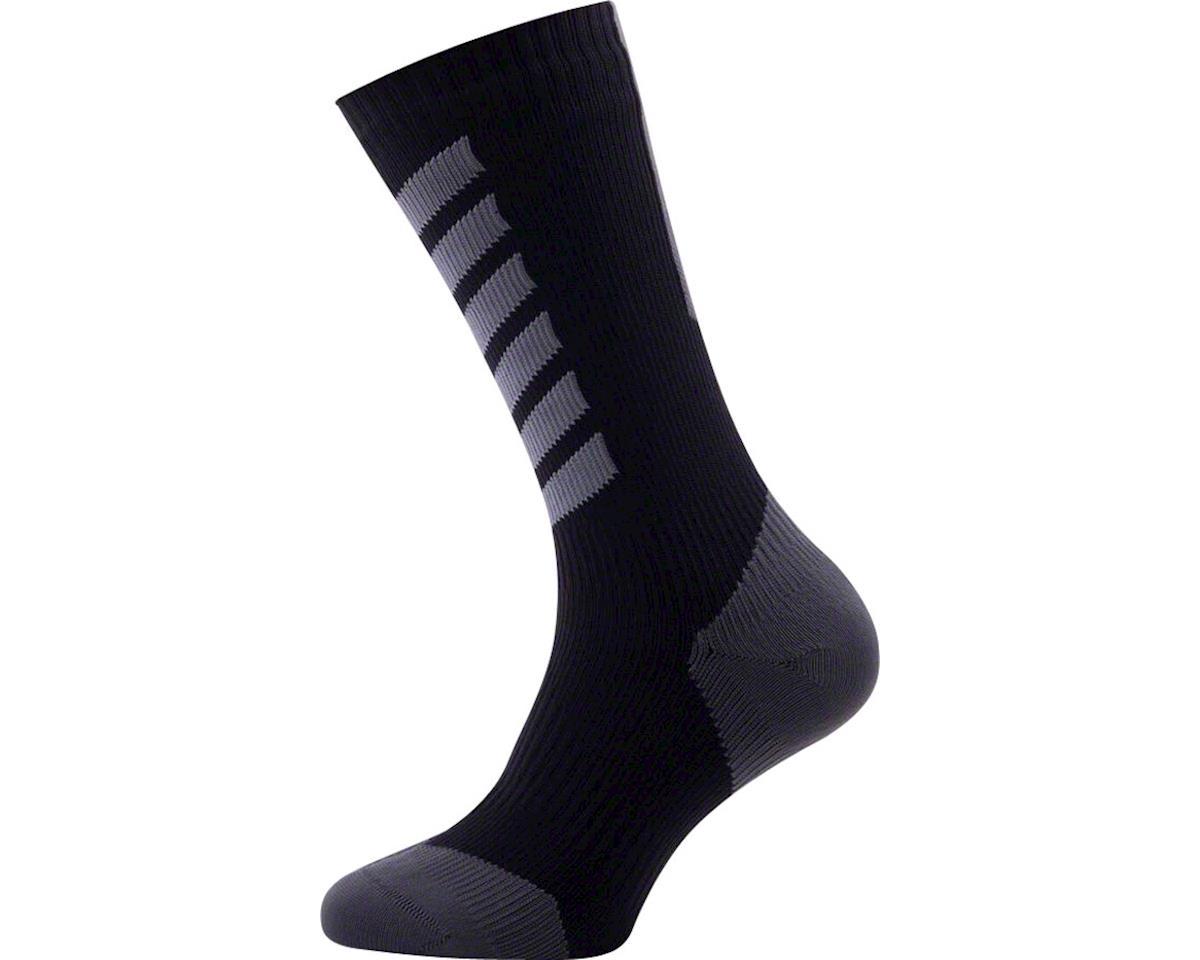 Sealskinz Seal Skinz Mid Mid Hydrostop Waterproof Sock (Black) (L)