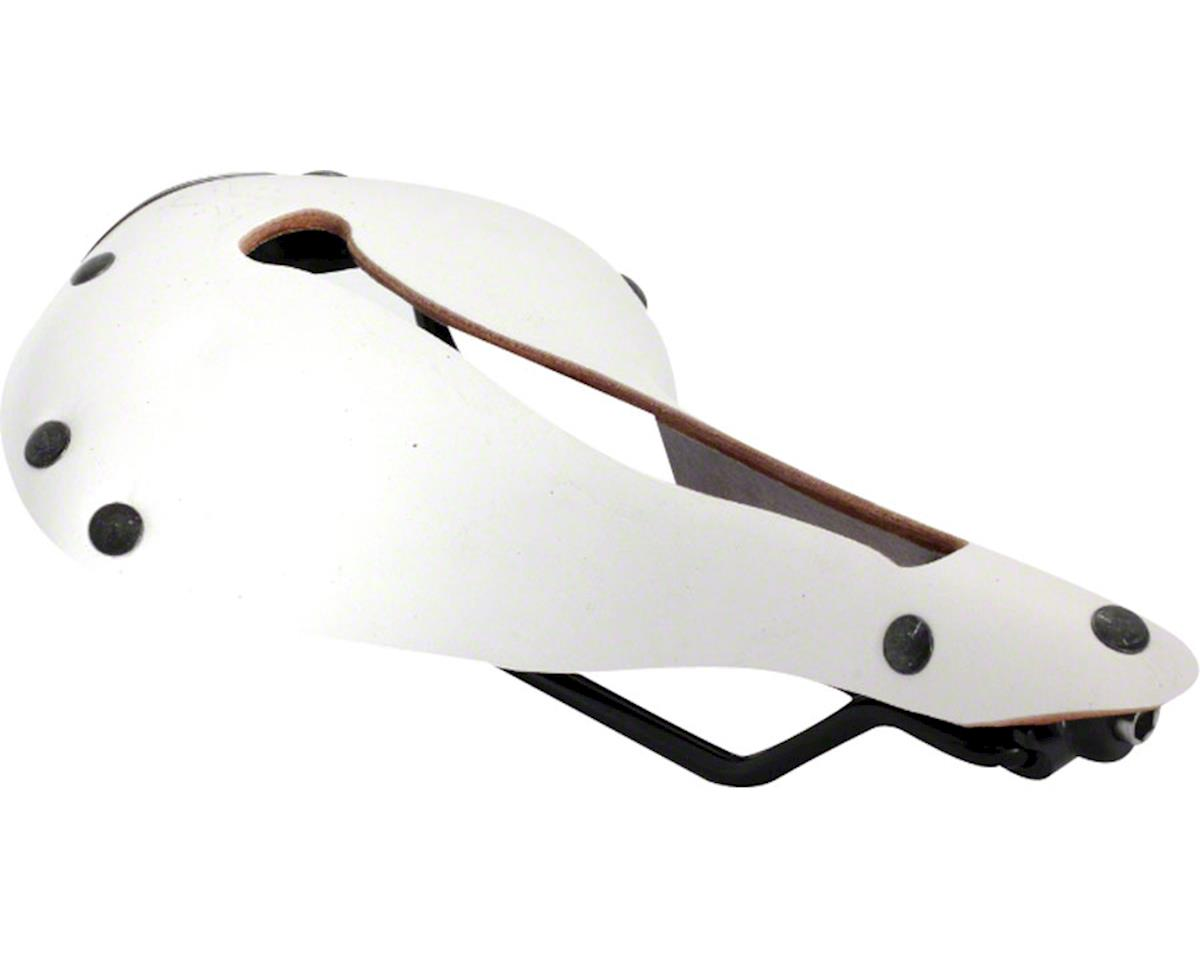 Selle Anatomica X Series Watershed Saddle: White with Gunmetal Rivets