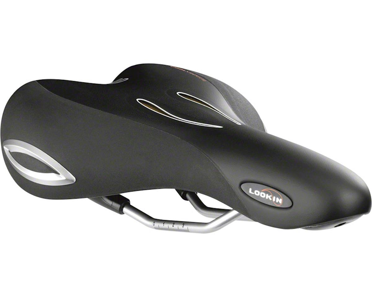 Selle Royal Lookin Moderate Saddle - Steel, Black, Men's