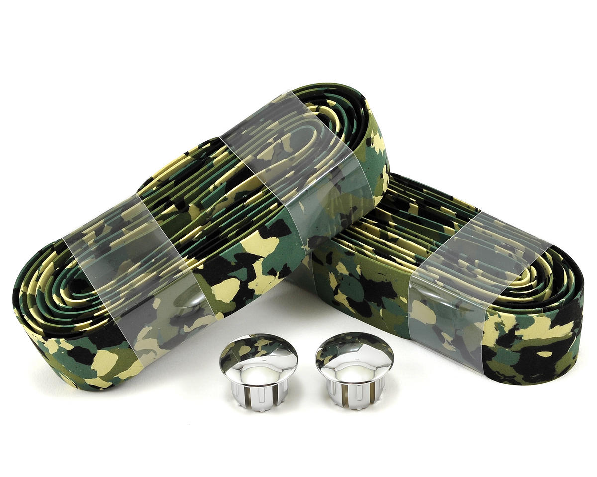 Synthetic Cork Road Bar Tape (Green Camo)