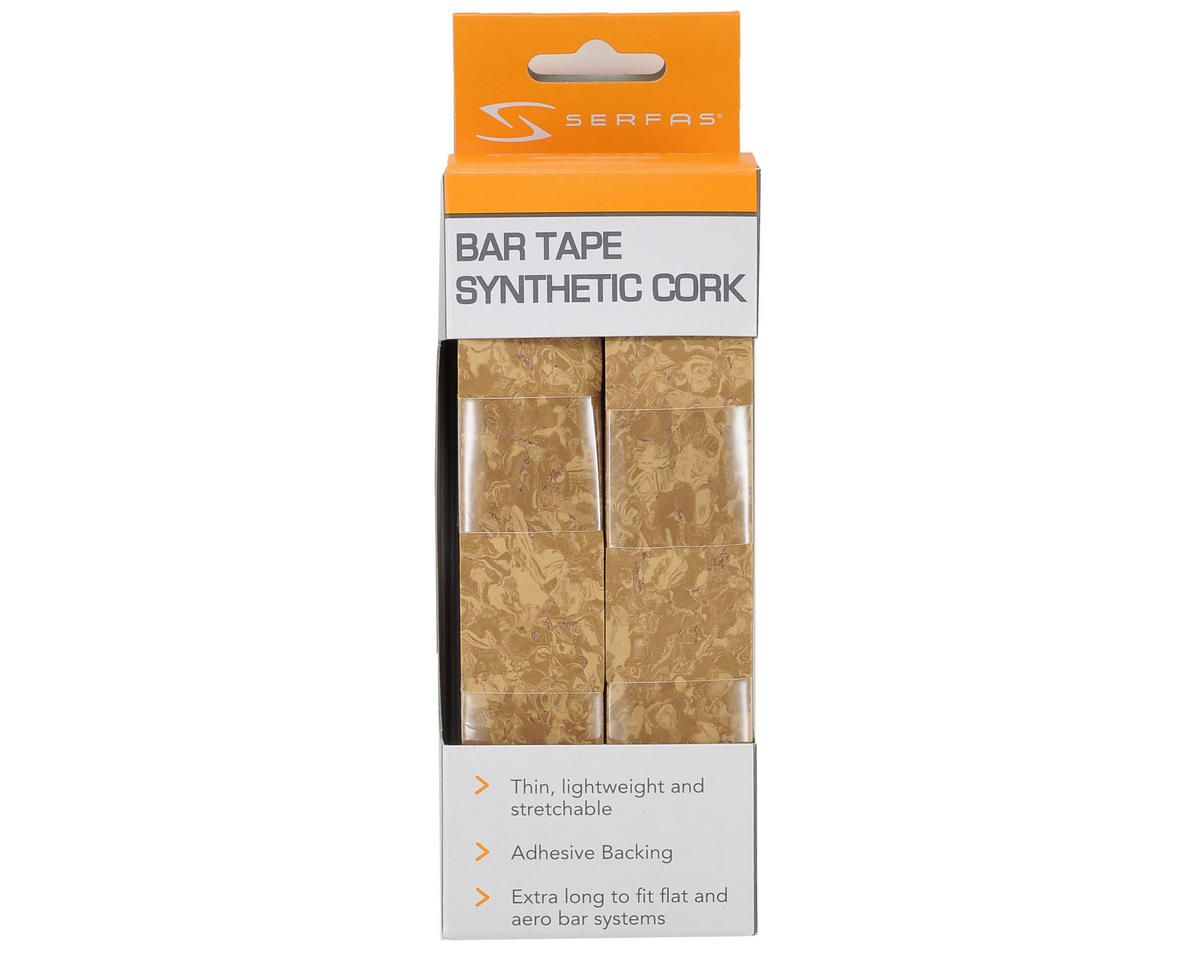 Serfas Synthetic Cork Road Bar Tape (Light Brown Marble)