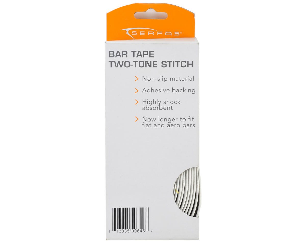 Serfas Two Tone Stitched Road Bar Tape (White/White)