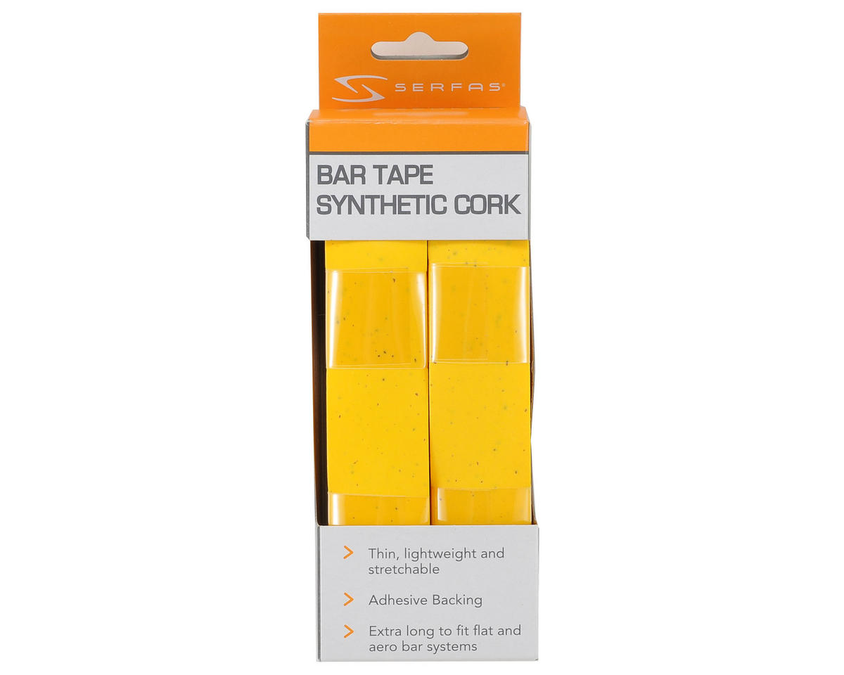 Serfas Synthetic Cork Road Bar Tape (Yellow)