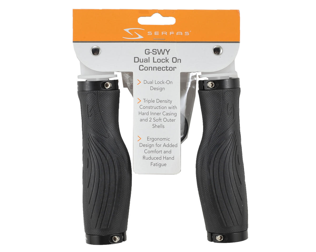 Serfas Sway Ergo Dual Lock-On Grips (Black)