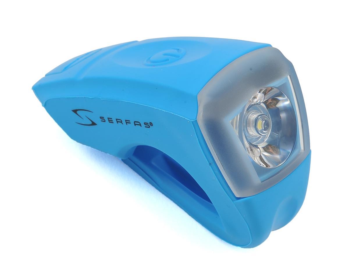 Serfas USB Silicone Bike Headlight (Blue)