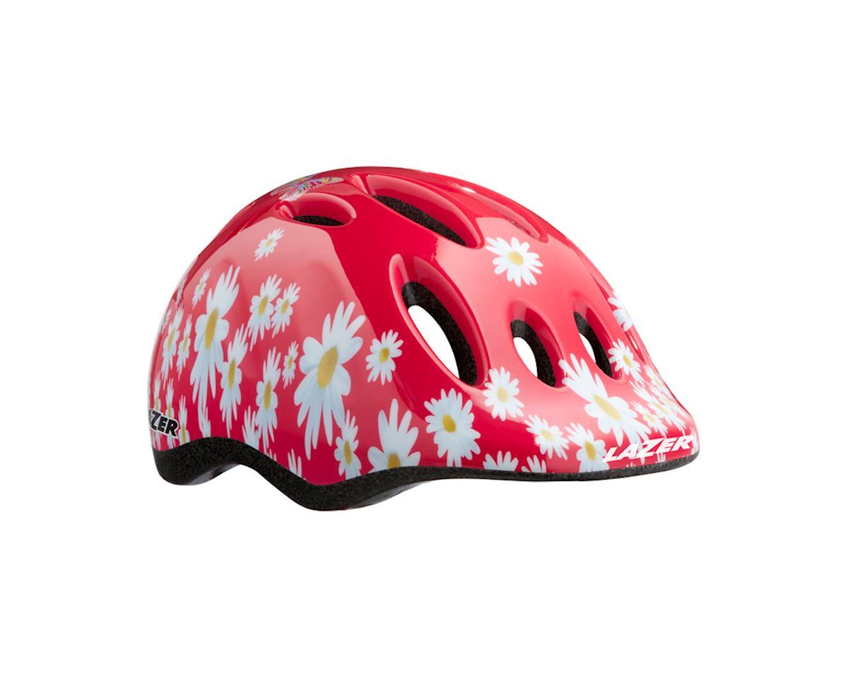 Shimano Lazer Max+ Helmet (Red w/ White Flowers)