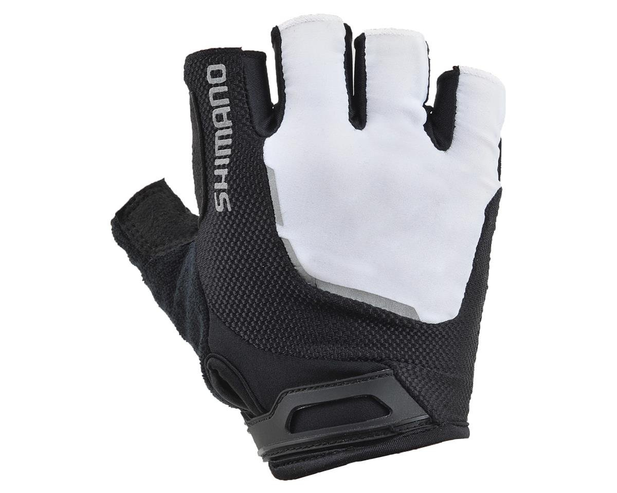 Shimano Escape Short Finger Bike Gloves (White)