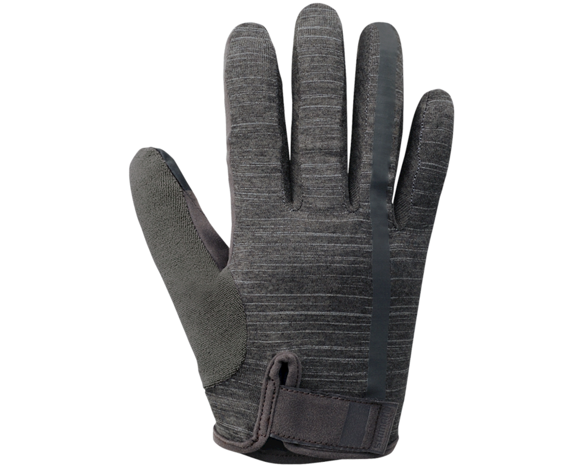 Shimano Transit Long Gloves (Raven Grey) (L)