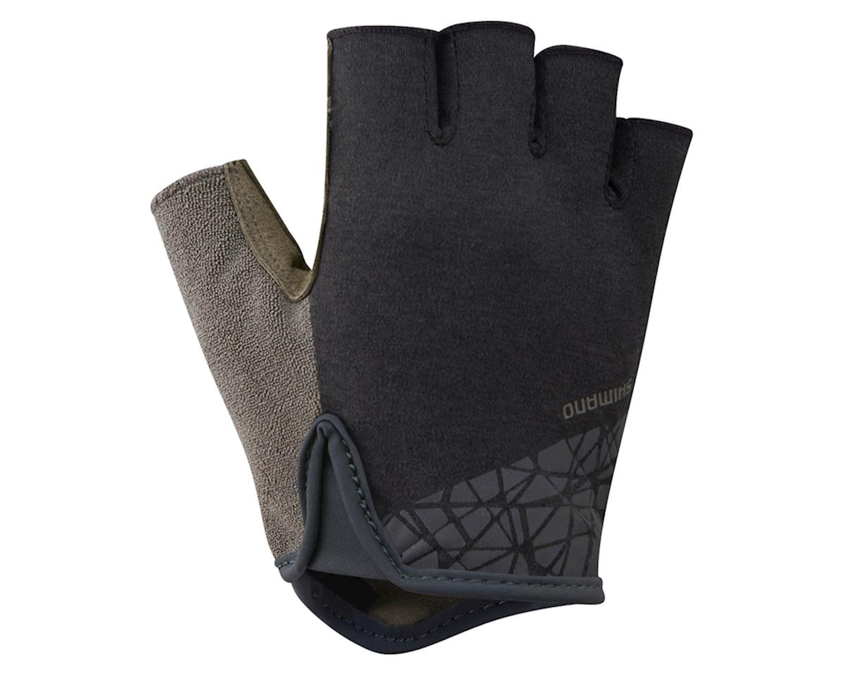 Shimano Transit Short Finger Gloves (Black/Brown) (L)
