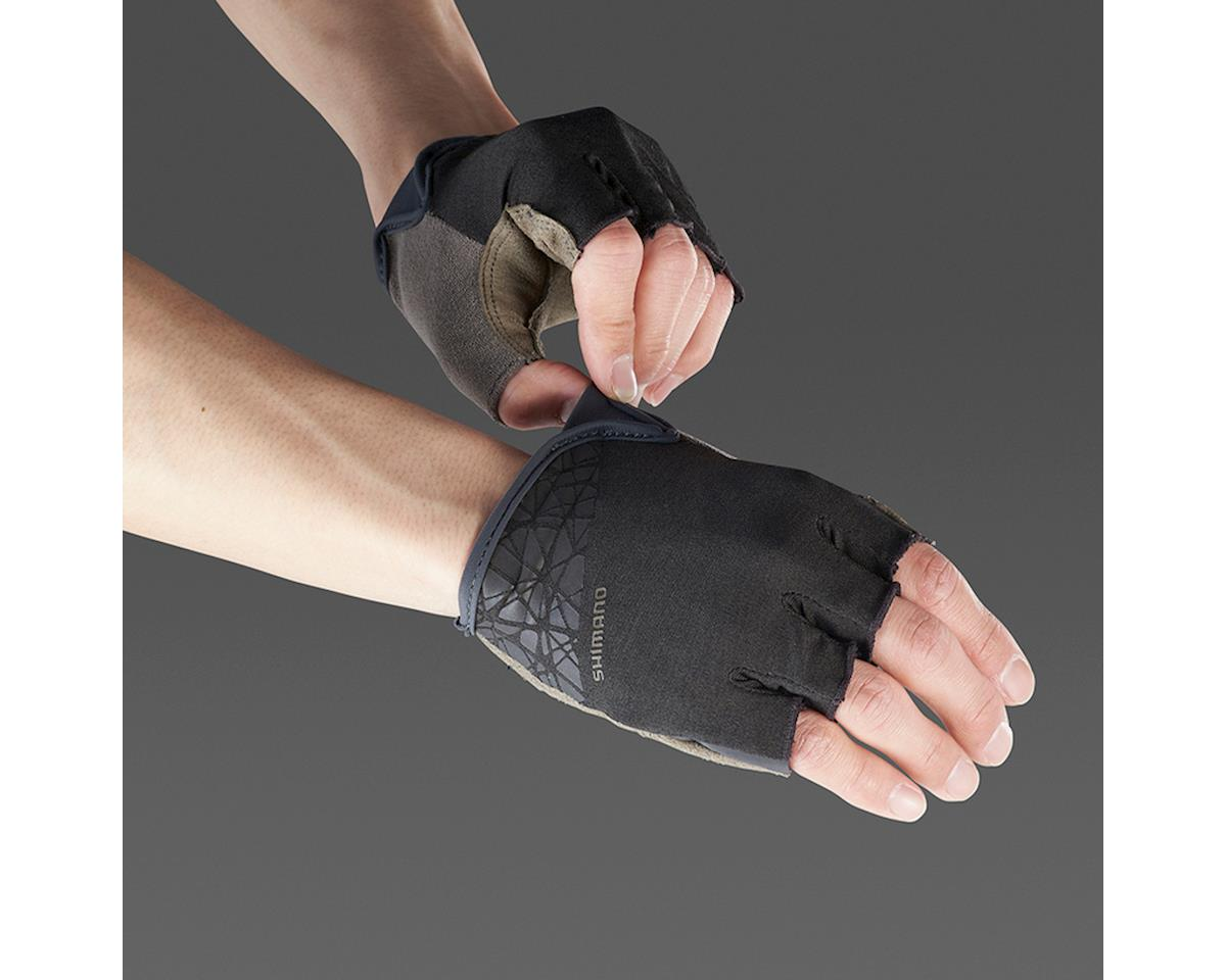 Shimano Transit Short Finger Gloves (Black/Brown) (2XL)