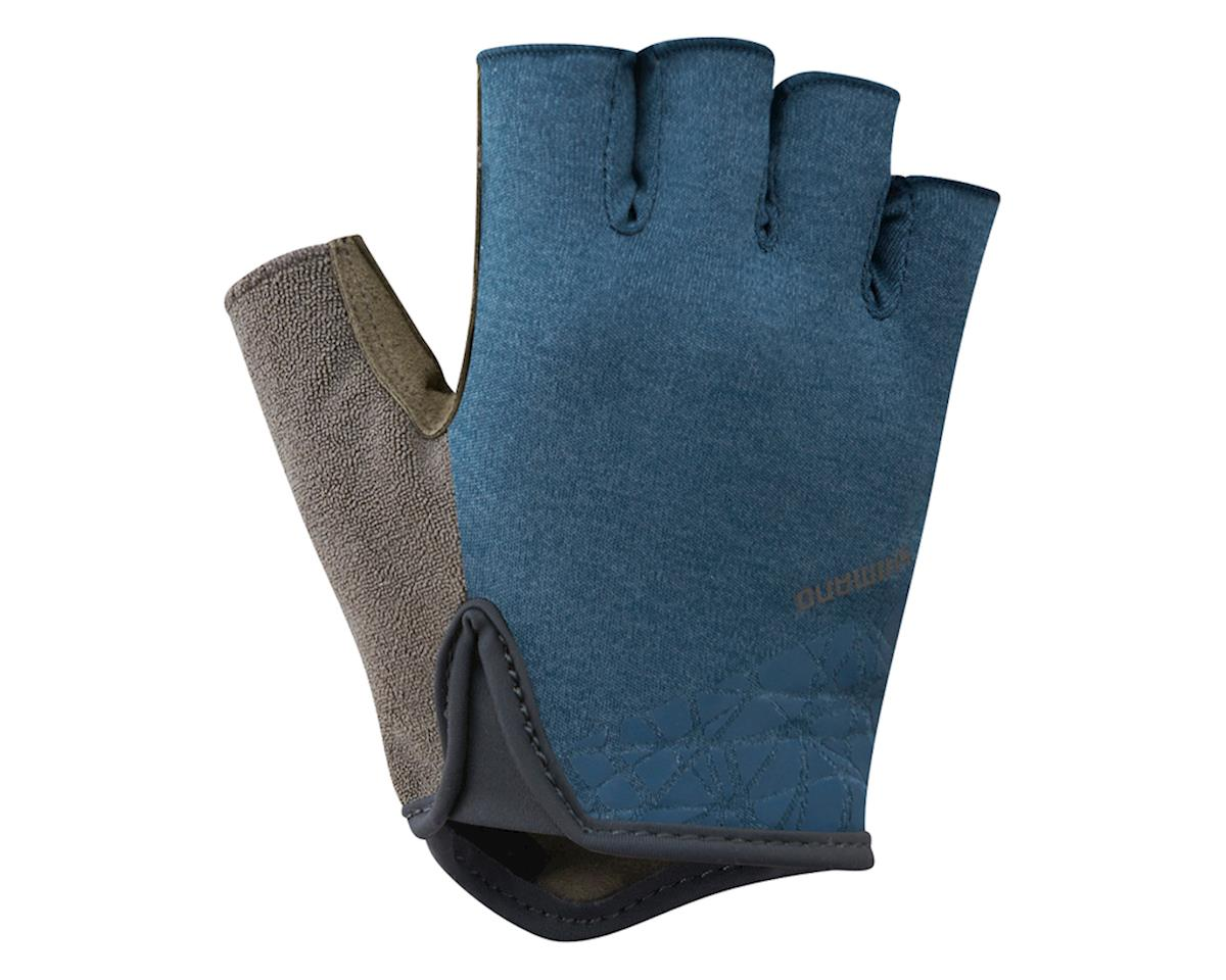 Shimano Transit Short Finger Gloves (Navy/Brown) (L)