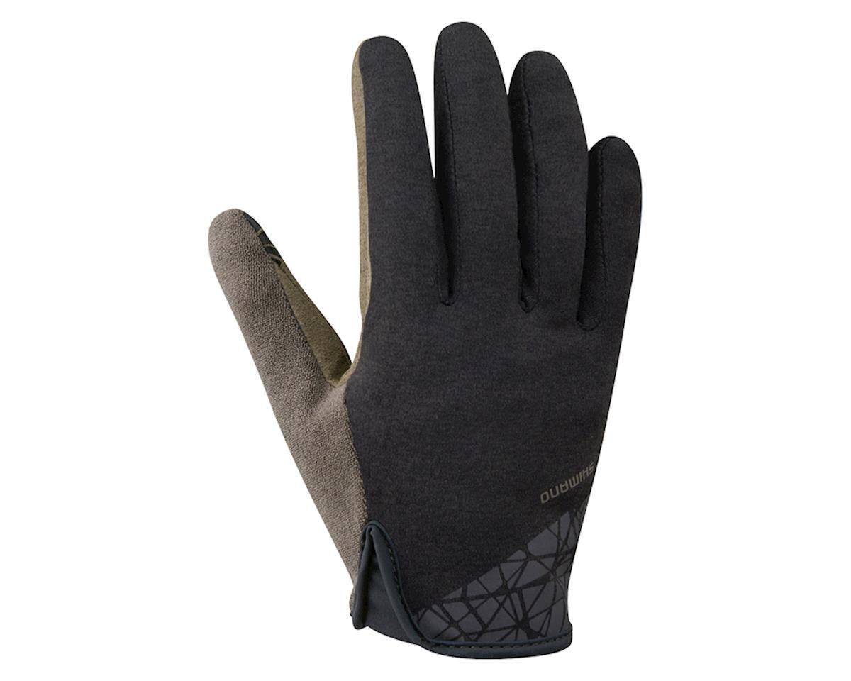 Shimano Transit Full Finger Gloves (Black Brown) (S ... 03243e77c