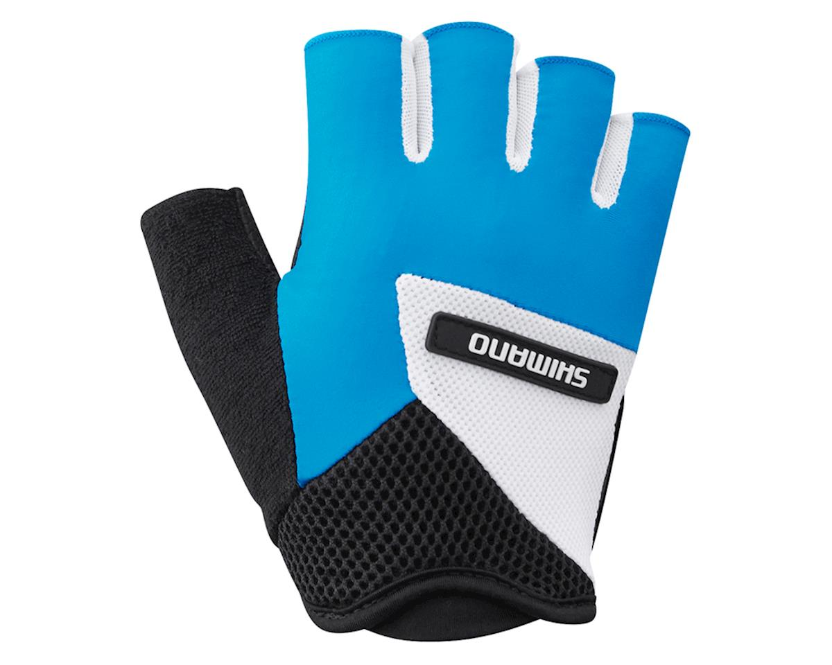 Shimano Airway Short Finger Gloves (Blue/White/Black) (2XL)