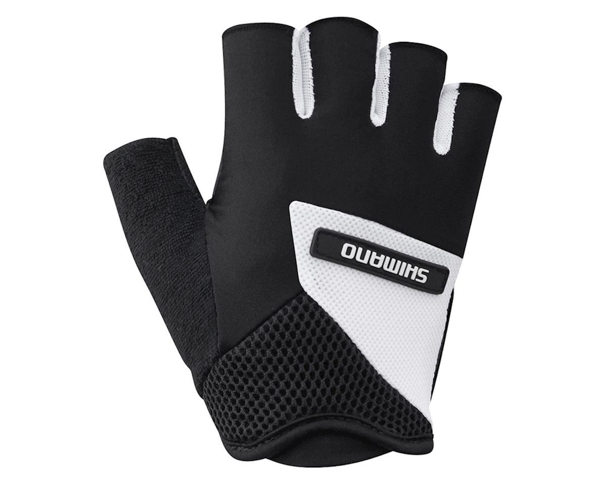Shimano Airway Short Finger Gloves (Black/White) (L)
