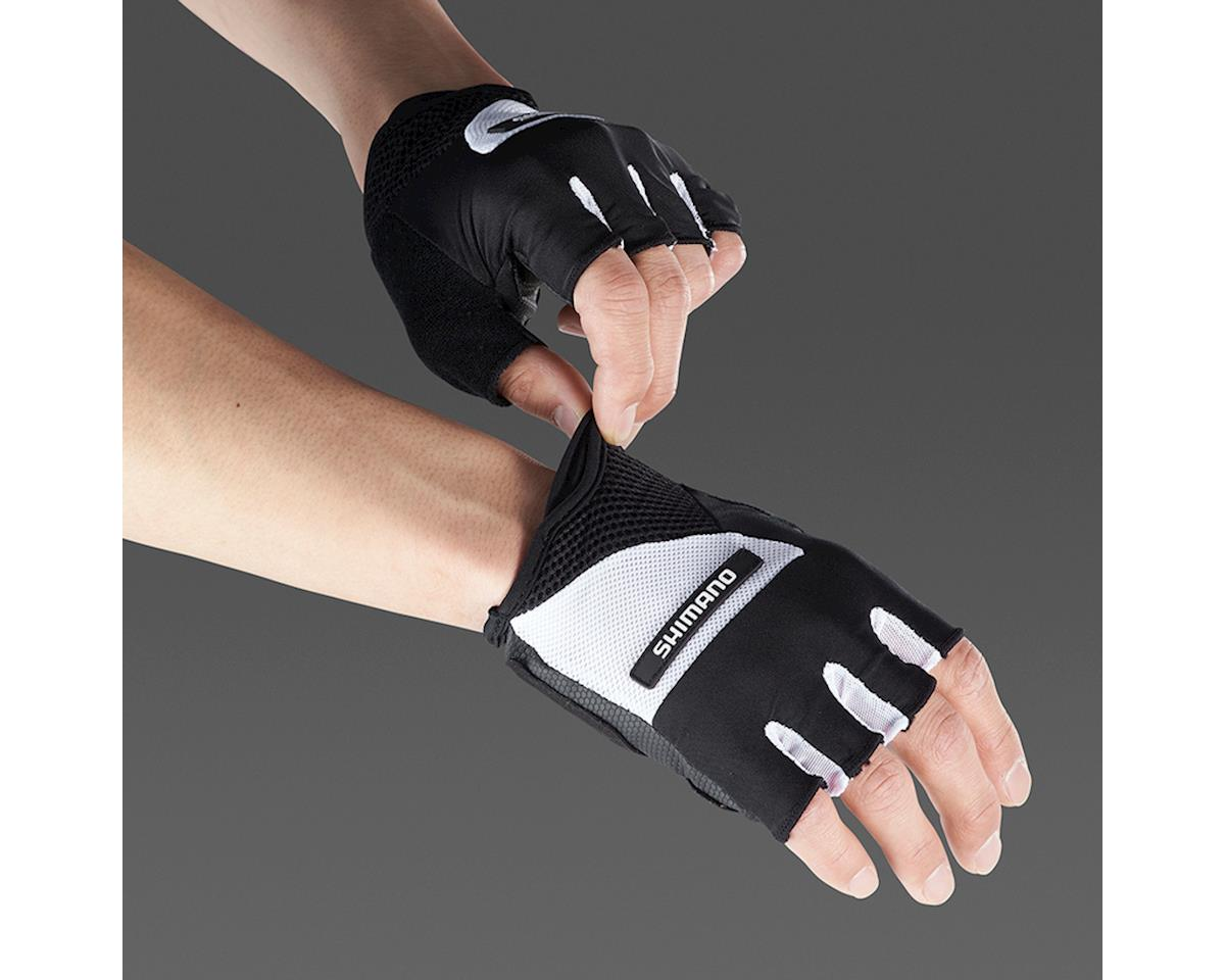 Shimano Airway Short Finger Gloves (Black/White) (XL)