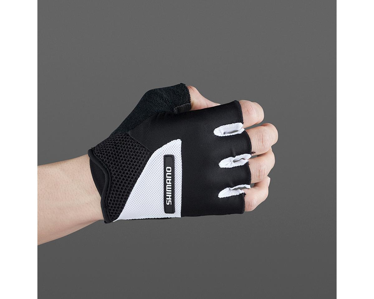 Image 3 for Shimano Airway Short Finger Gloves (Black/White) (2XL)