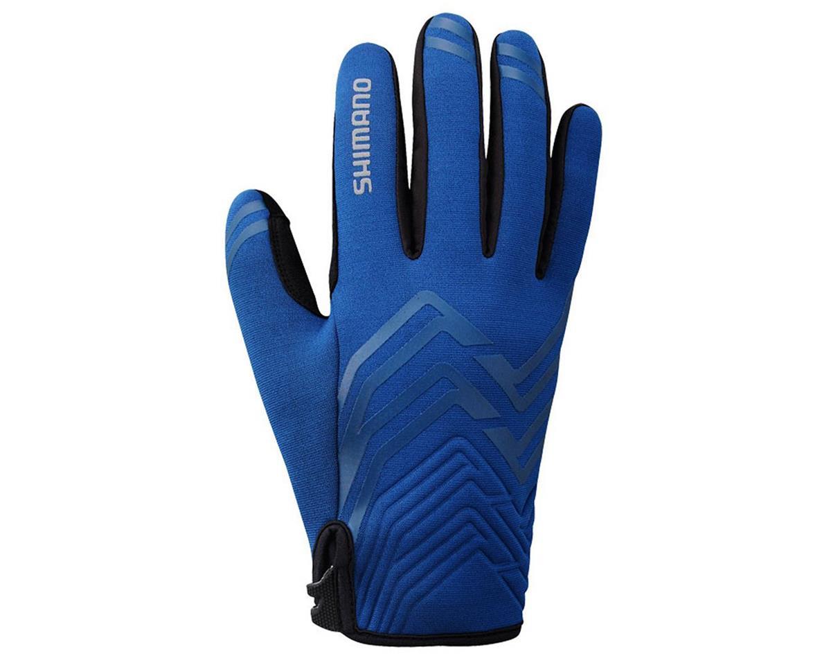 Shimano Thick Windbreak Bike Gloves (Blue) (S)