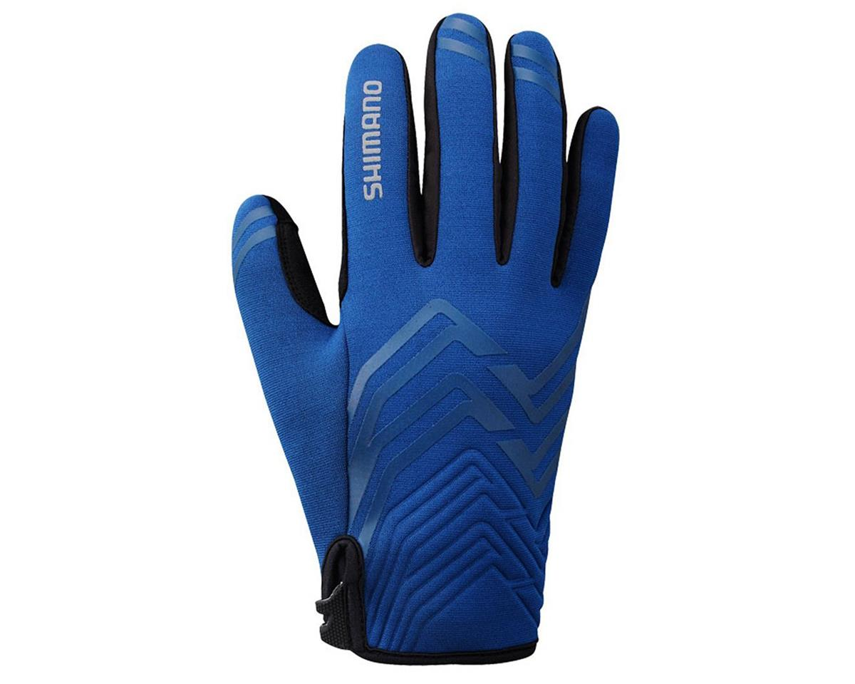 Shimano Thick Windbreak Bike Gloves (Blue) (2XL)