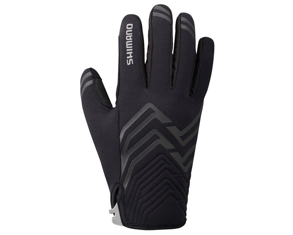 Shimano Thick Windbreak Bike Gloves (Black) (2XL)