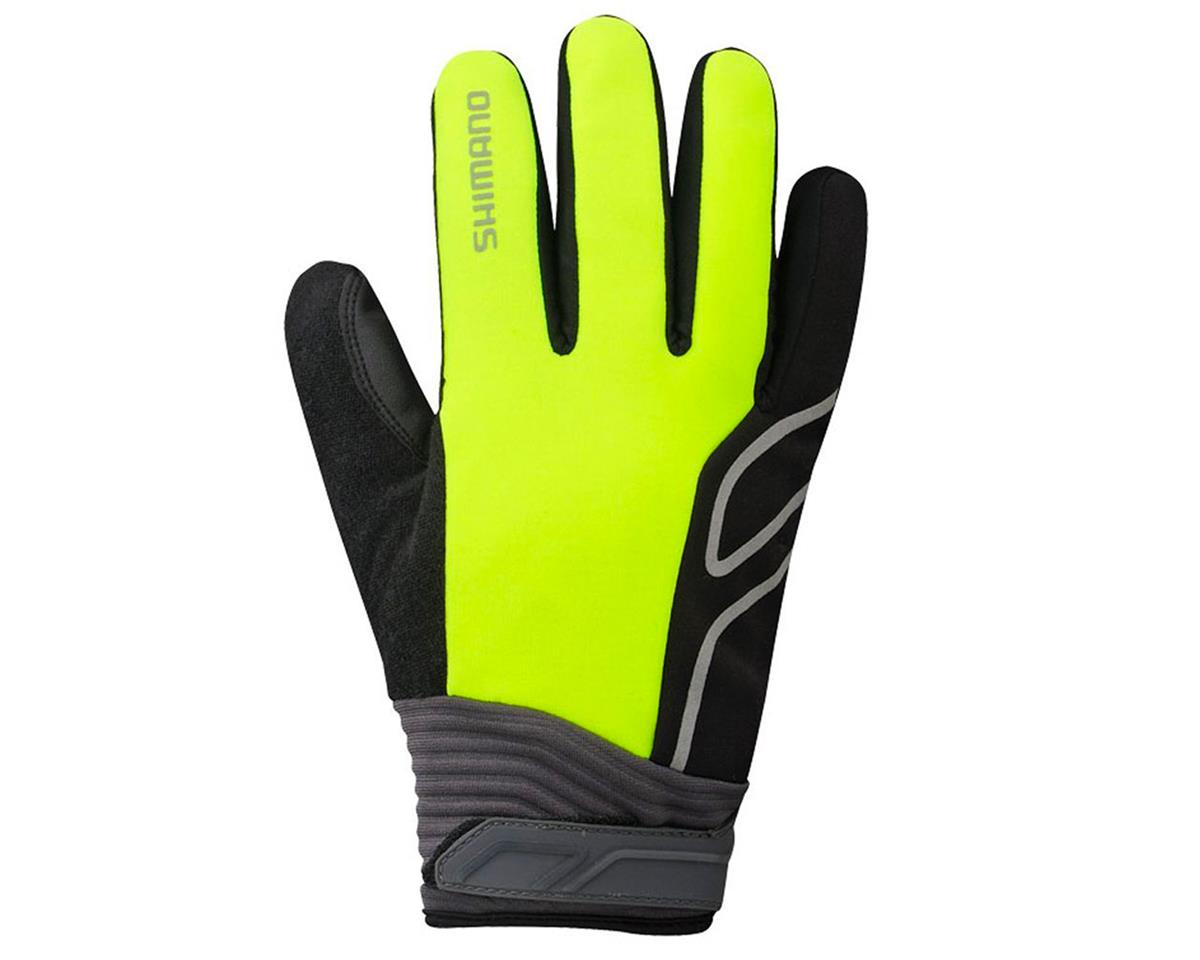 Shimano High-Visible Bike Gloves (Neon Yellow)