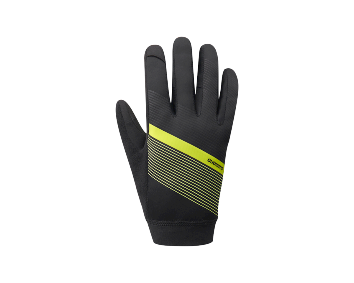 Shimano Wind Control Gloves (Neon Yellow) (XL)