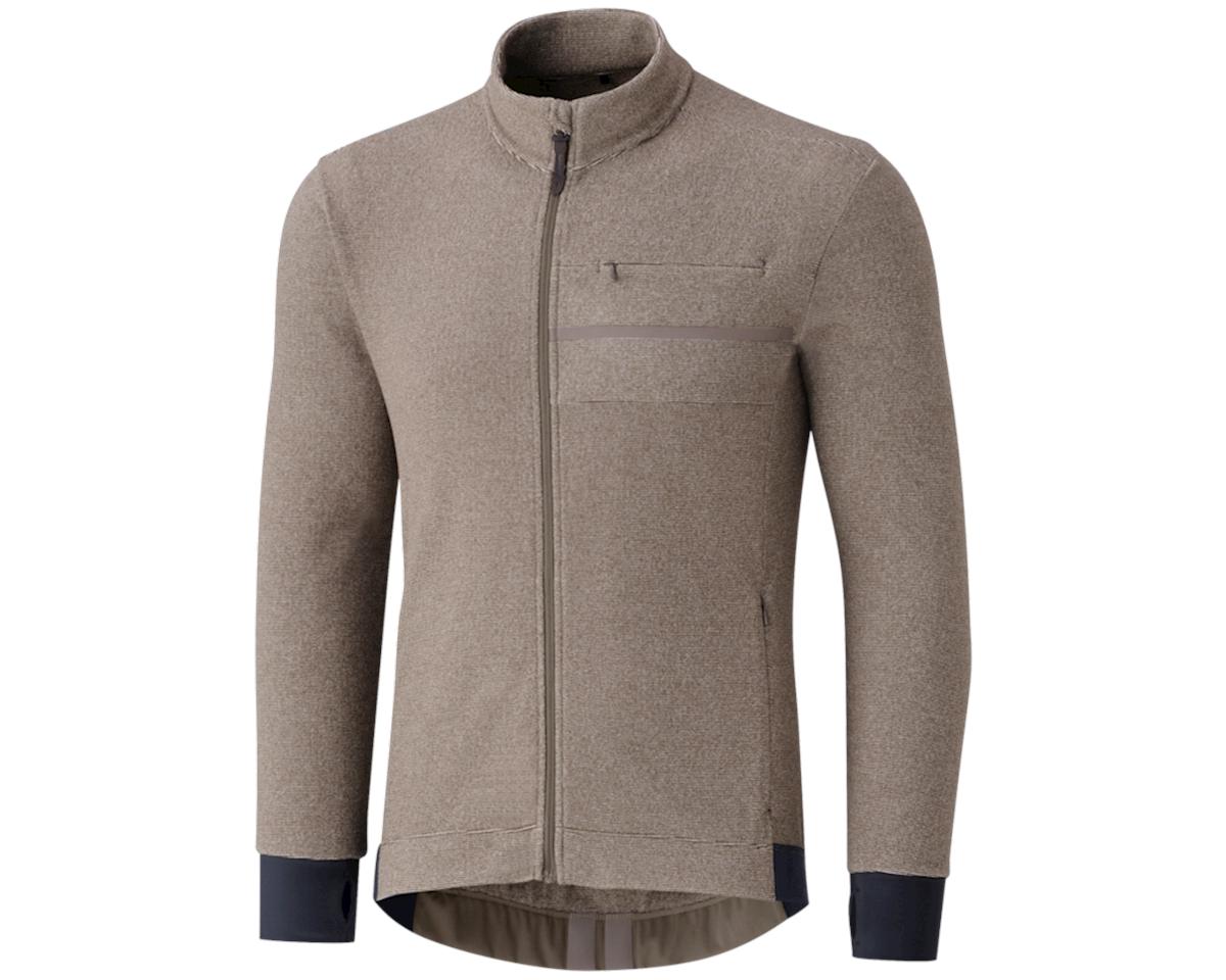 Shimano Transit Fleece Jersey (Morel Brown)