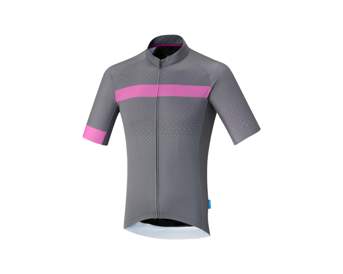 Shimano Breakaway Jersey (Gray/Pink) (S)