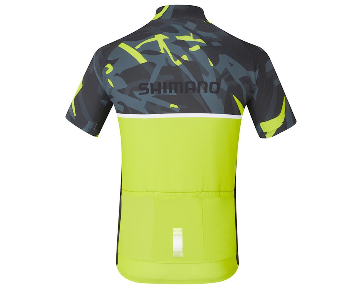 Shimano Team Jersey (Green Camo/Yellow) (XL)