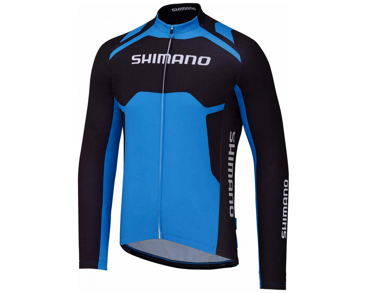 Shimano Thermal Print Long Sleeve Team Cycling Jersey (Shimano Blue) (M)