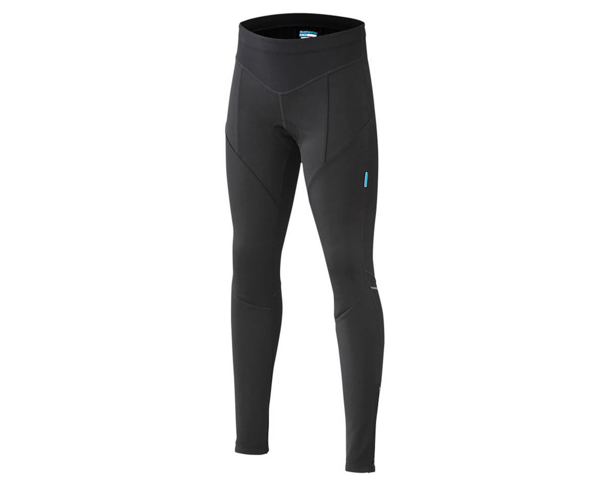 Shimano Women's Performance Windbreak Long Cycling Tights (Black) (L)