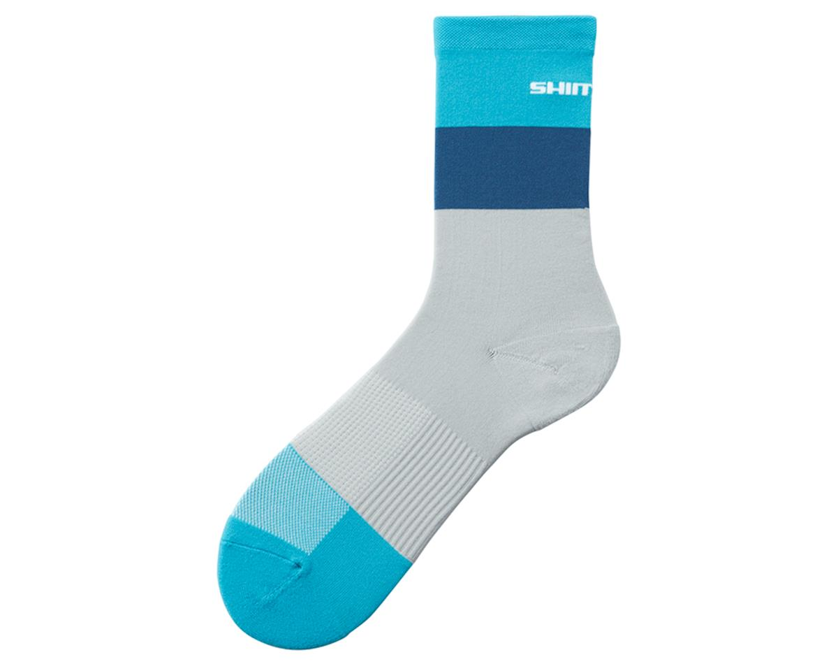 Shimano Original Tall Socks (Grey/Mint) (L/XL)