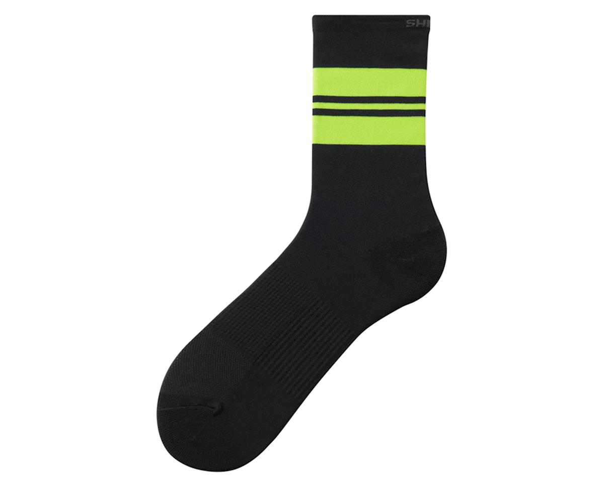 Shimano Original Tall Socks (Black/Lime/Yellow) (L/XL)