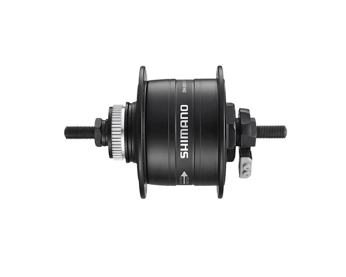 Shimano DH-3D37-NT Dynamo Front Disc Hub (32H) (100mm) (Rotor Mount)