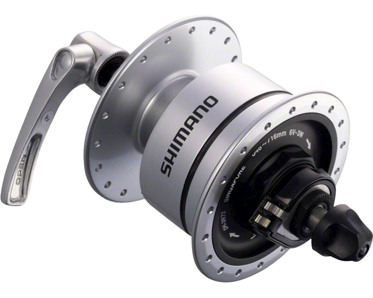 Shimano DH-3N72 36h Dynamo Hub (Silver) (Front)
