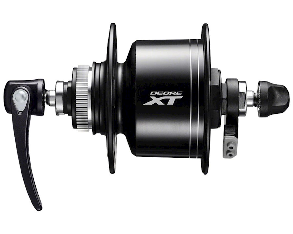 Shimano XT DH-T8000-3D Dynamo Centerlock Disc 32h Hub (Black) (Front)