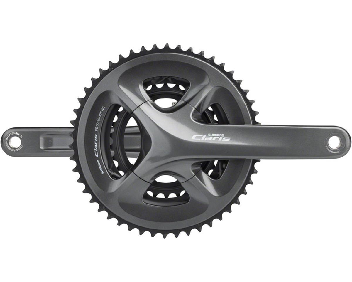 Shimano Claris FC-R2030 Crankset - 170mm, 8-Speed, 50/39/30t, 110/74 BCD, Hollow