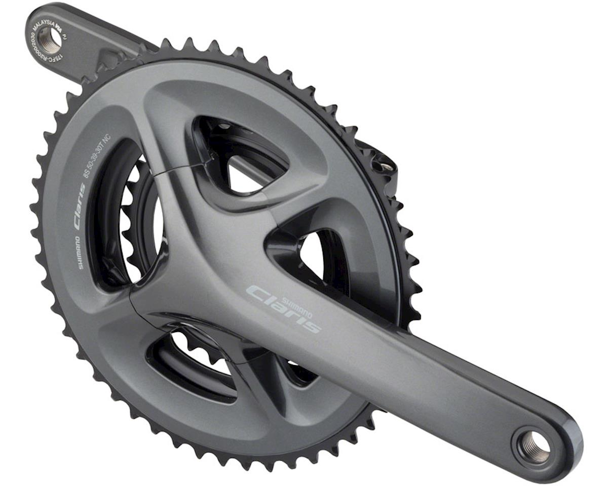 Shimano Claris FC-R2030 Crankset - 175mm, 8-Speed, 50/39/30t, 110/74 BCD, Hollow