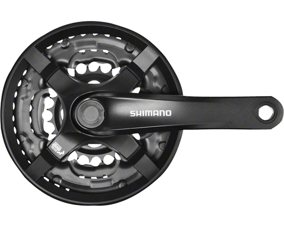 Shimano Tourney TY501 6/7/8-Speed 170mm 28/38/48t Square Crankset with Chainguar