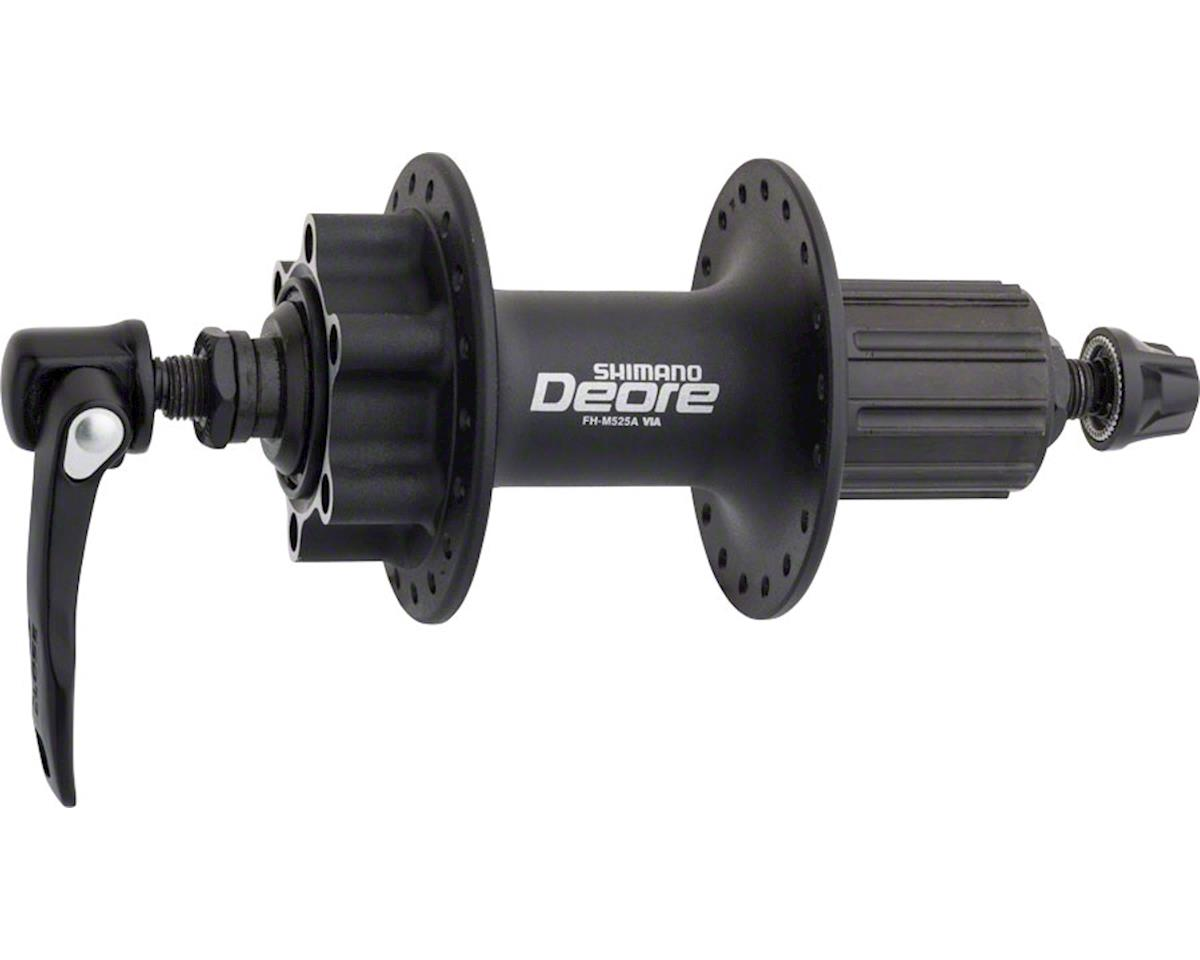 Shimano Deore FH-M525A Rear Disc Hub (Black) (36h) (QRx 135mm) (6-Bolt)