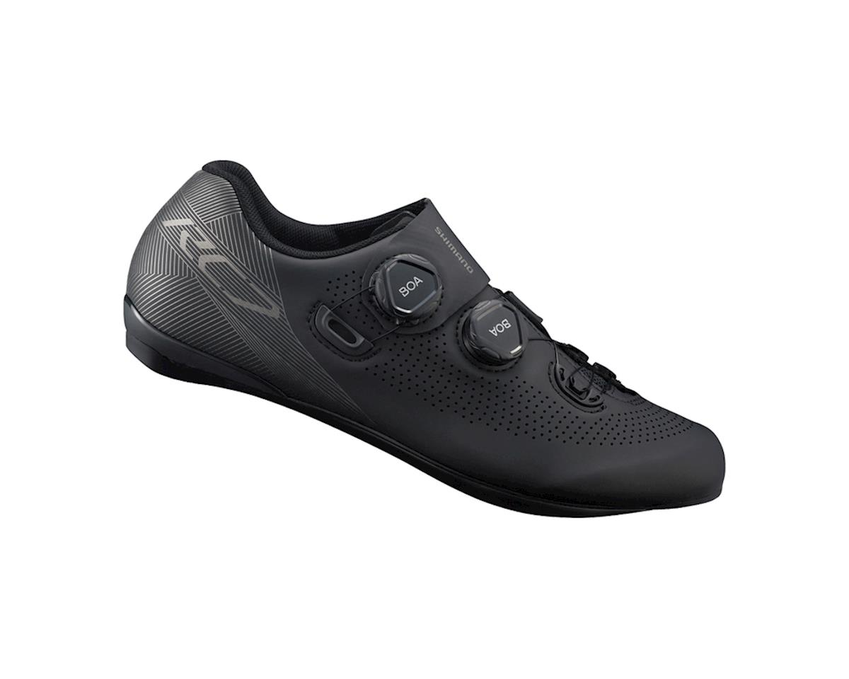 Shimano SH-RC701 Wide Road Shoe (Black) (46 Wide)