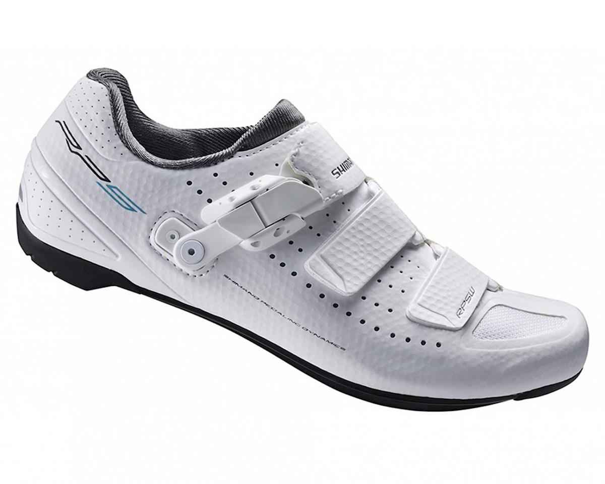 SCRATCH & DENT: Shimano SH-RP5W Women's Bike Shoes (White) (37)