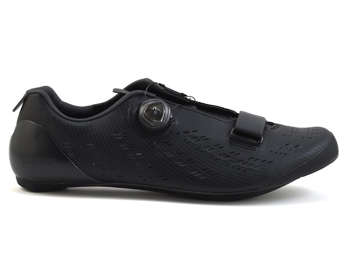 Shimano 2018 SH-RP9 Men's Road Cycling Shoes (Black) (42)